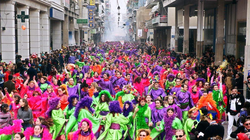 Традиционный карнавал в Греции